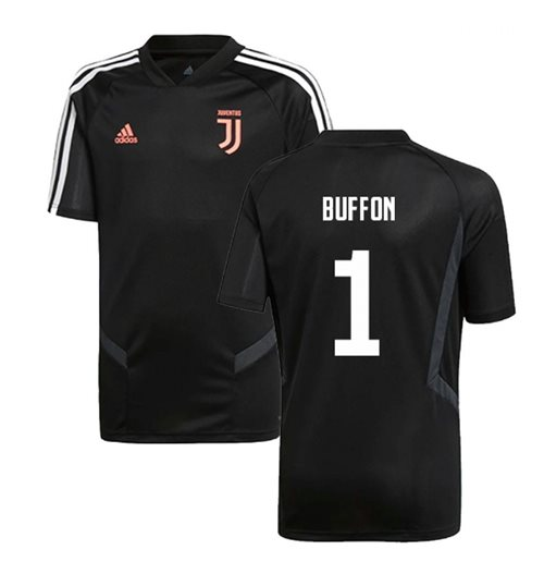 2019-2020 Juventus Adidas Training Shirt (Black) (Buffon 1)