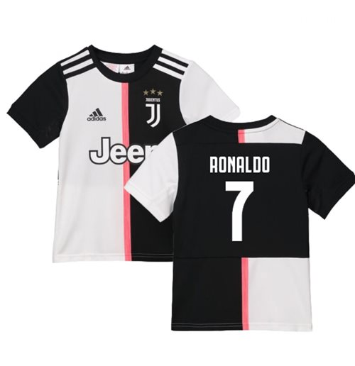 wholesale dealer 6720a 6f134 2019-2020 Juventus Adidas Home Shirt (Kids) (Ronaldo 7)
