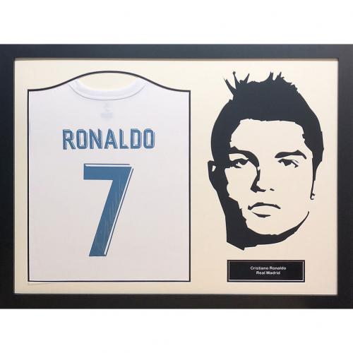 Real Madrid F.C. Ronaldo Signed Shirt Silhoutte