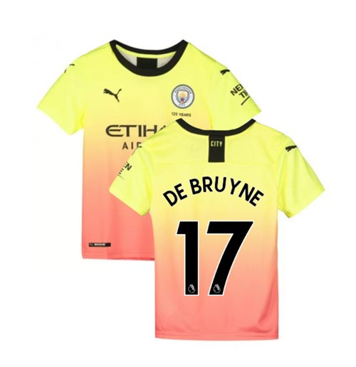 2019-2020 Manchester City Puma Third Football Shirt (Kids) (De Bruyne 17)