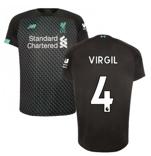 2019-2020 Liverpool Third Football Shirt (Kids) (Virgil 4)