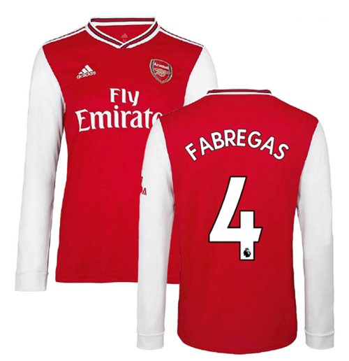 2019-2020 Arsenal Adidas Home Long Sleeve Shirt (FABREGAS 4)