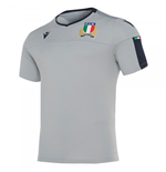 2019-2020 Italy Macron Rugby Poly Training Shirt (Grey)