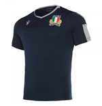 2019-2020 Italy Macron Rugby Poly Training Shirt (Navy)