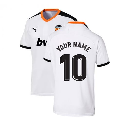 2019-2020 Valencia Puma Home Football Shirt (Your Name)