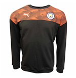 2019-2020 Manchester City Puma Casuals Sweat Top (Asphalt)