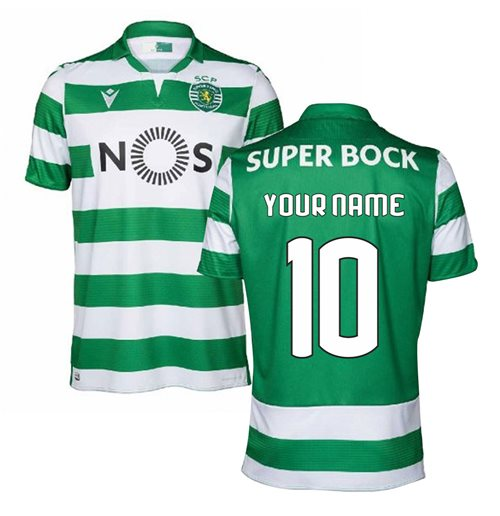 2019-2020 Sporting Lisbon Authentic Home Football Shirt (Kids) (Your Name)