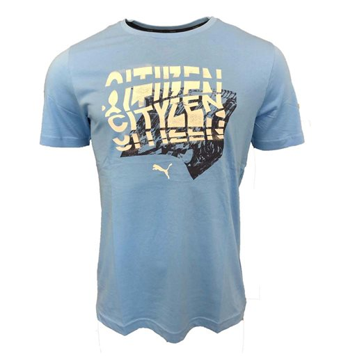 2019-2020 Manchester City Puma Club DNA Tee (Blue)
