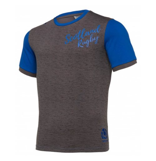 2019-2020 Scotland Macron Rugby Leisure Polycotton T-Shirt (Grey)