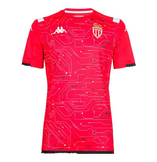 2019-2020 Monaco Pre Match Training Shirt (Red)