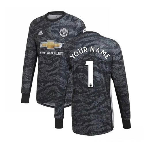 2019-2020 Man Utd Adidas Away Goalkeeper Shirt (Your Name)
