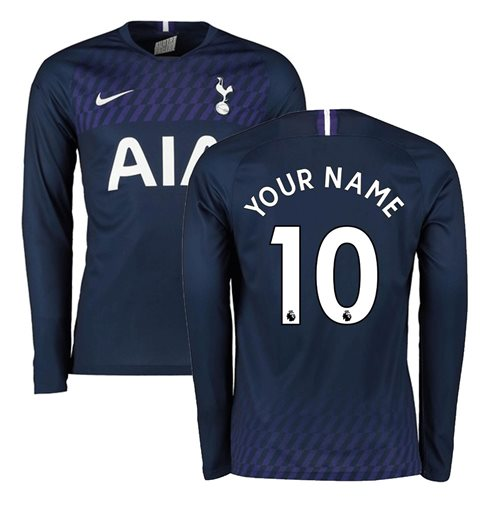 2019-2020 Tottenham Away Long Sleeve Nike Shirt (Your Name)