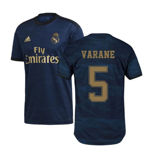 2019-2020 Real Madrid Adidas Away Football Shirt (VARANE 5)