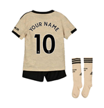 2019-2020 Man Utd Adidas Away Little Boys Mini Kit (Your Name)