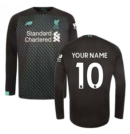 2019-2020 Liverpool Third Long Sleeve Shirt (Kids) (Your Name)