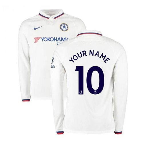 2019-2020 Chelsea Away Nike Long Sleeve Shirt (Your Name)