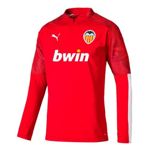 2019-2020 Valencia Puma Quarter Zip Training Top (Red)