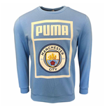 2019-2020 Manchester City Puma Shoe Tag Sweat Top (Blue)