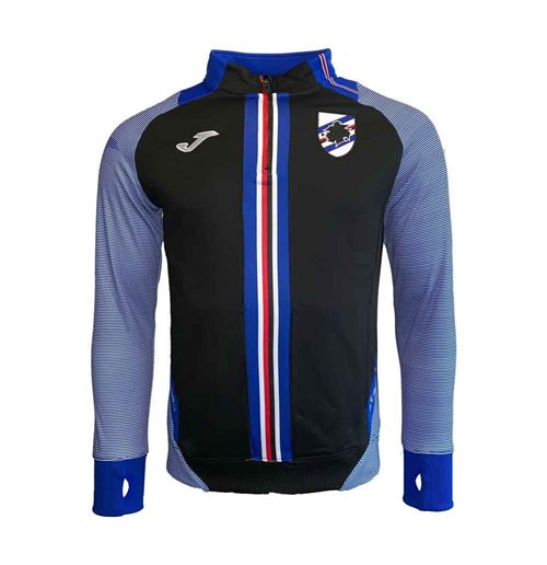 2019-2020 Sampdoria Joma Half Zip Training Top (Black)