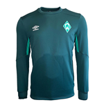 2019-2020 Werder Bremen Umbro Sweat Top (Green)