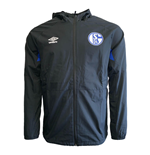 2019-2020 Schalke Umbro Shower Jacket (Black)