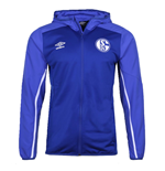 2019-2020 Schalke Umbro Hooded Jacket (Blue)