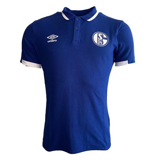 2019-2020 Schalke Umbro CVC Polo Shirt (Blue)