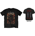 Slayer Unisex Tee: Hellthrone European Tour 2018 (Back Print/Ex Tour)