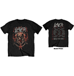 Slayer Unisex Tee: Demonic Admat European Tour 2018 (Back Print/Ex Tour)