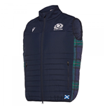 2019-2020 Scotland Macron Rugby Padded Gilet (Navy)