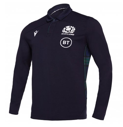 2019-2020 Scotland Home LS Cotton Rugby Shirt
