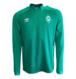 2019-2020 Werder Bremen Umbro Half Zip Training Top (Green)