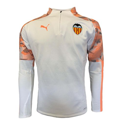 2019-2020 Valencia Puma Training Fleece (White)