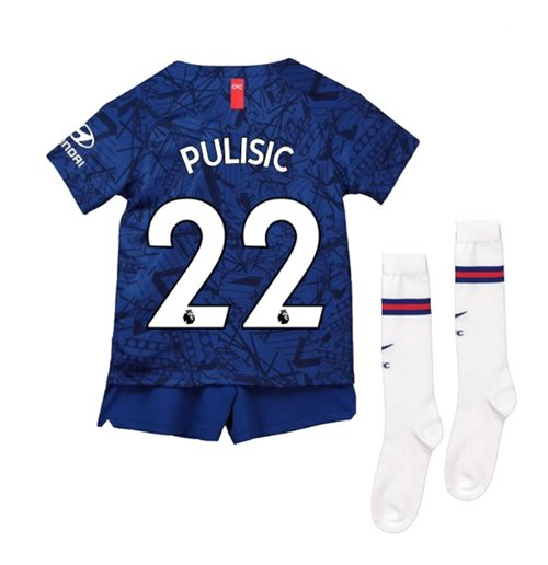 2019-20 Chelsea Home Mini Kit (Pulisic 22)