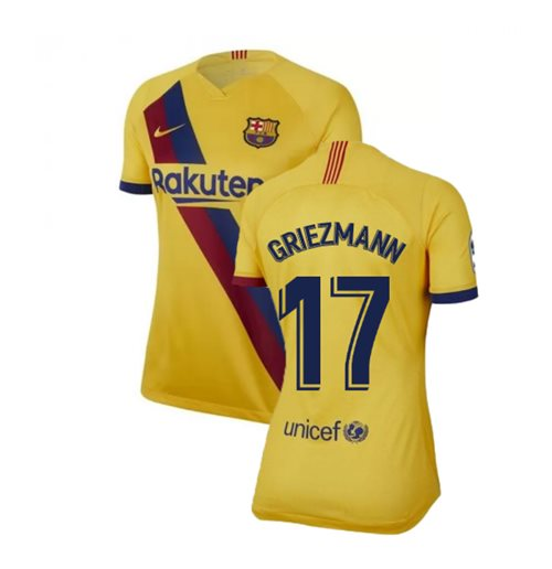 2019-2020 Barcelona Away Nike Ladies Shirt (Griezmann 17)