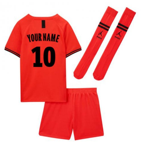 2019-2020 PSG Away Nike Little Boys Mini Kit (Your Name)