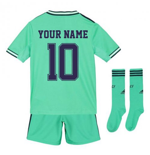 2019-2020 Real Madrid Adidas Third Full Kit (Kids) (Your Name)