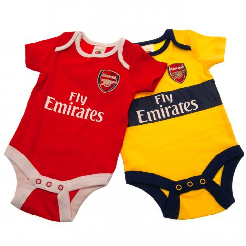 Arsenal F.C. 2 Pack Bodysuit 9/12 mths YL