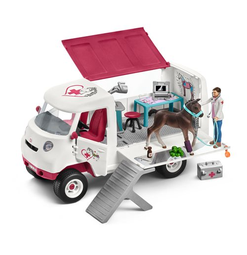 SCHLEICH Horse Club Mobile Vet with Hanoverian Foal Toy Figure
