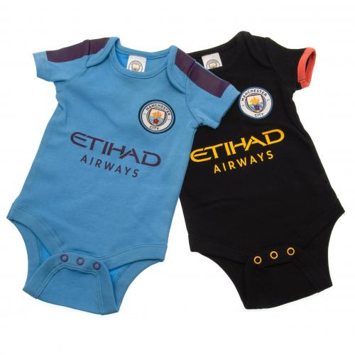 Manchester City F.C. 2 Pack Bodysuit 0/3 mths PL
