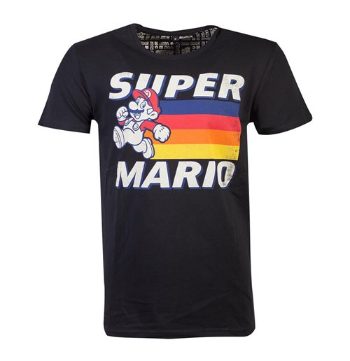 NINTENDO Super Mario Bros. Running Mario, Unisex, Medium, Black.