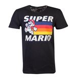 NINTENDO Super Mario Bros. Running Mario T-Shirt, Unisex, Large, Black