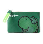 NINTENDO Super Mario Bros. Rubber Yoshi Face Coin Purse Wallet, Female, Green