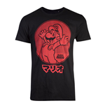 NINTENDO Super Mario Bros. Red Jumping Mario T-Shirt, Unisex, Large, Black