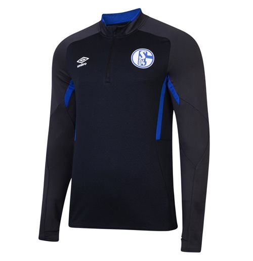 2019-2020 Schalke Umbro Half Zip Training Top (Black)