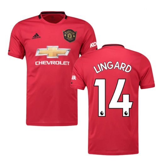 2019-2020 Man Utd Adidas Home Football Shirt (Kids) (LINGARD 14)