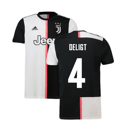 2019-2020 Juventus Adidas Home Football Shirt (De Ligt 4)