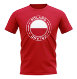 Poland Football Badge T-Shirt (Red)