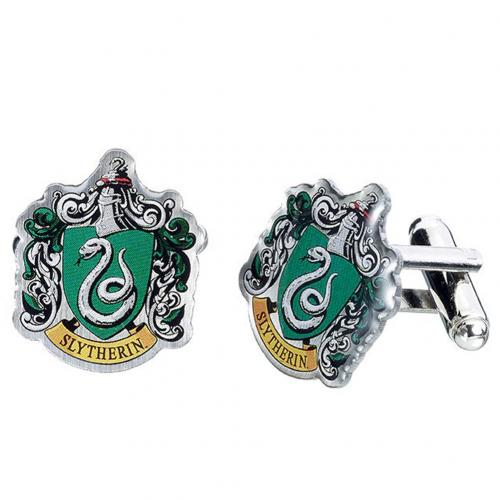 Harry Potter Silver Plated Cufflinks Slytherin