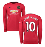 2019-2020 Man Utd Adidas Home Long Sleeve Shirt (Your Name)